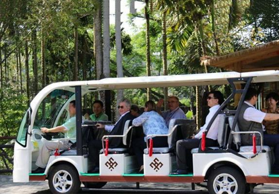 玛西尔电动观光车连总统和明星都点赞