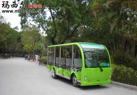 玛西尔电动观光车投入深圳野生动物园