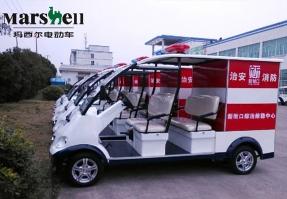 玛西尔电动车为南京新街口提供电动消防车