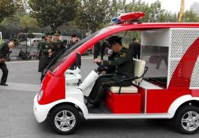 上海市普陀区玛西尔电动消防车演习