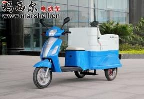 内蒙古电动三轮挂桶车-电动环卫车(DHWQY-8)